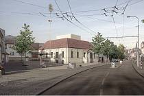 Nová podoba společenského centra v Komíně, které se stane součástí budovy staré hasičky.