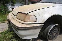 Zdemolovaná Honda.