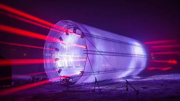 Světelný tunel na hvězdárně