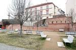 Kapucínský park blízko katedrály sv. Petra a Pavla.