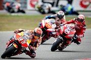 Finálový závod MotoGP Velká cena České republiky, závod mistrovství světa silničních motocyklů v Brně 4. srpna 2019. Na snímku (vlevo) Marc Marquez (SPA).