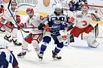 Hokejisté Komety hostili ve třetím utkání čtvrtfinále extraligového play-off Třinec.