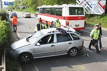 Úterní ranní nehoda v Hradecké ulici.