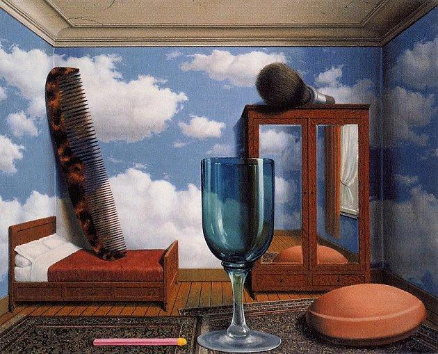 René Magritte - Les Valeurs personnelles (1952).