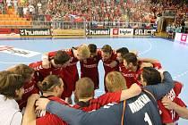 Čeští házenkáří přehráli v Brně Černou Horu 30:25 a zahrají si na mistrovství Evropy.