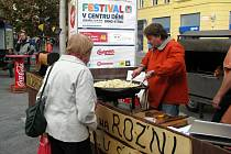 Slavnosti vína na náměstí Svobody v Brně vystřídala poslední akce z programu Festivalu v centru dění Slavnosti regionů.