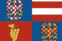 Ilustrační: Vlajka jihomoravského kraje