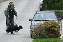 Policie spolu se strážníky uzavřela Puškinovu ulici v Žabovřeskách. Kvůli falešné bombě.