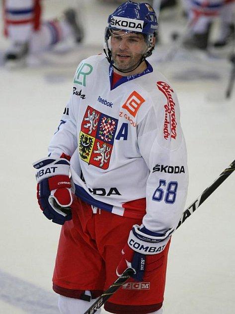 Jágr v turnaji proti Švédsku.