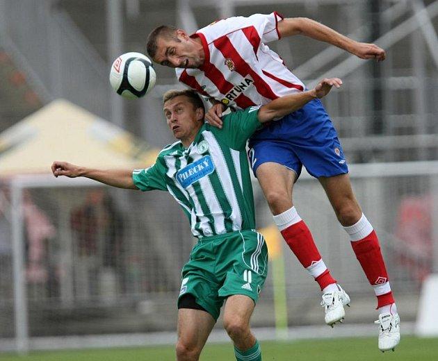Fotbalový obránce brněnské Zbrojovky Ivo Zbožínek.