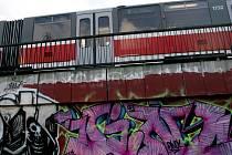 Graffiti na Renneské třídě.