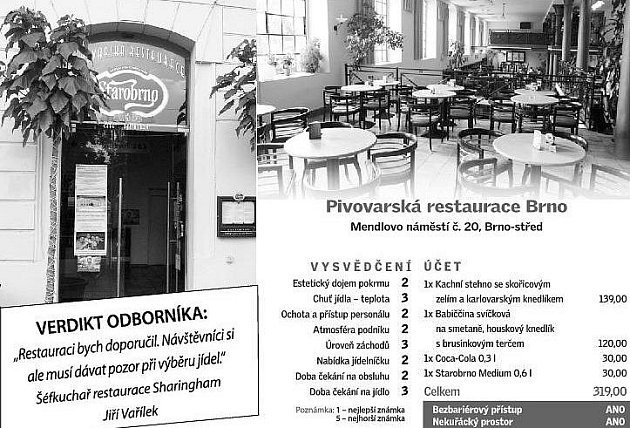 Pivovarská restaurace Brno.