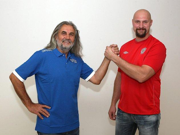 Majitelé dvou největších sportovních klubů v Brně: Václav Bartoněk a Libor Zábranský.