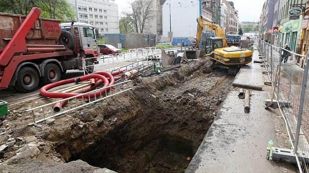 Opravy důležitého brněnského dopravního uzlu - ulice Milady Horákové.