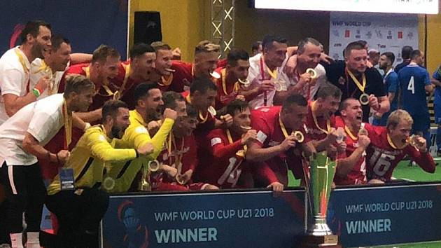 Čeští reprezentanti do 21 let se stali světovými šampioni v malém fotbale.