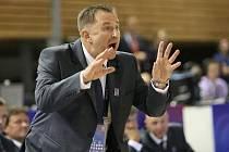 Trenér Lubor Blažek na Mistrovství světa Česko vs. Japonsko.
