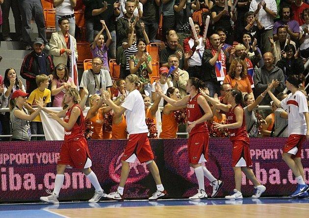 Mistrovství světa Česko vs. Japonsko v hale Vodova.