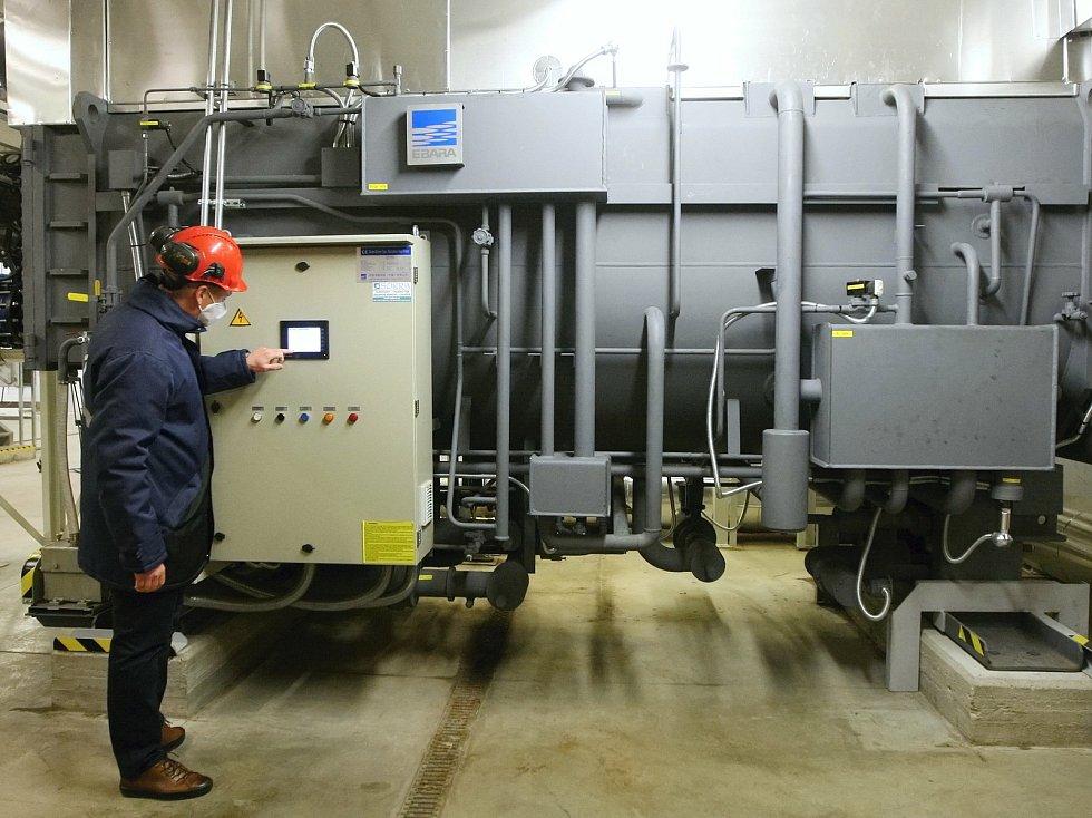 Zahájení provozu tepelného čerpadla v brněnské spalovně odpadů.