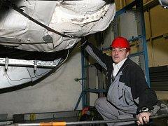 Kontrola turbíny v brněnské teplárně.