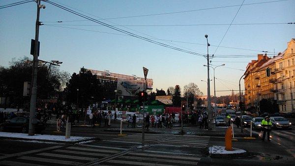 Doprava vBrně před zápasem Komety.