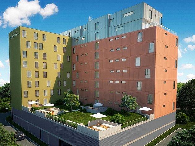 Vizualizace Rezidence Erasmus, která vznikne v Králově Poli.