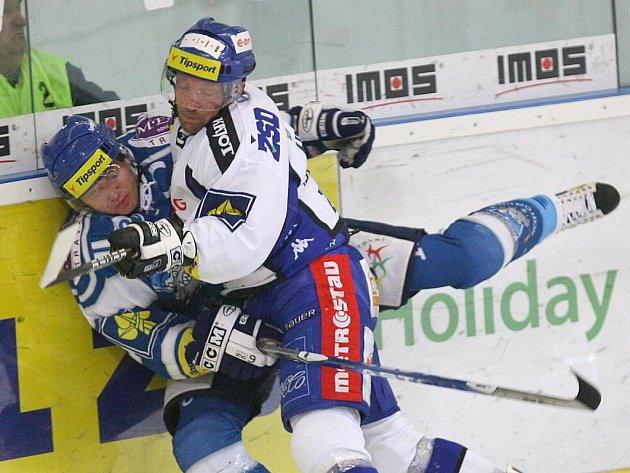 Modrobílí hokejisté zvítězili na domácím ledě nad Kladnem 3:0.