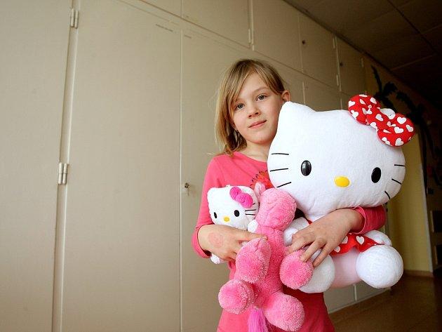 Ze stovky plyšáků, desítek knížek a deskových her se od úterý těší malí pacienti Dětské nemocnice v Černopolní ulici.