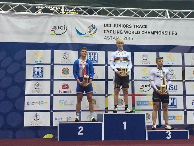Talent brněnské Dukly Jiří Janošek získal na juniorském mistrovství světa stříbro vkeirinu.