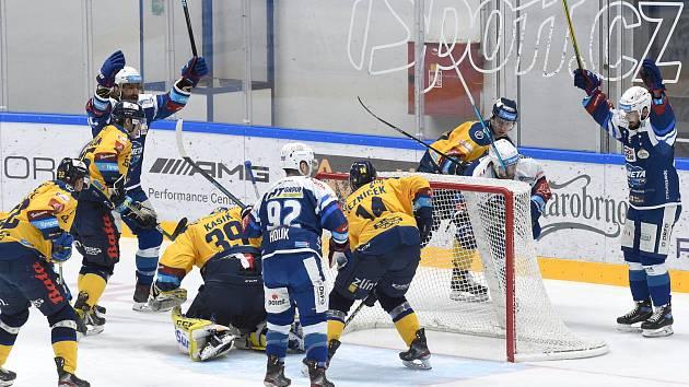 Hokejisté Komety si poradili na domácím ledě se Zlínem