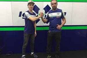 Motocyklový závodník Filip Řeháček a Filip Ježek.