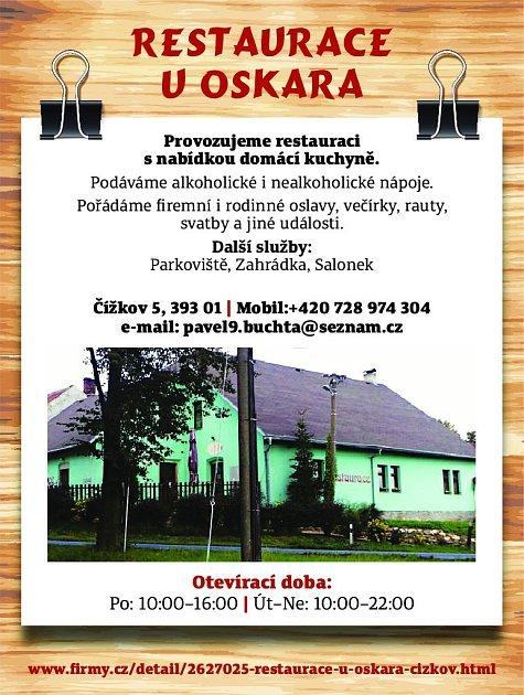 21. Restaurace UOskara Čížkov