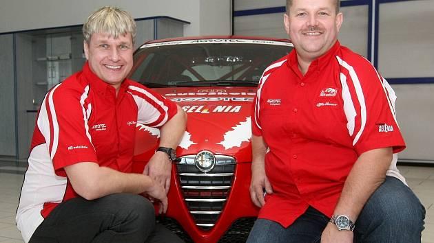 Na hustopečského jezdce Martina Radu (vpravo) s navigátorem Jaroslavem Jugasem (vlevo)  čeká legendární Rallye Monte Carlo.