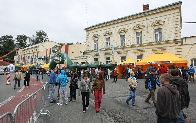 Pivovar Starobrno na Mendlově náměstí.