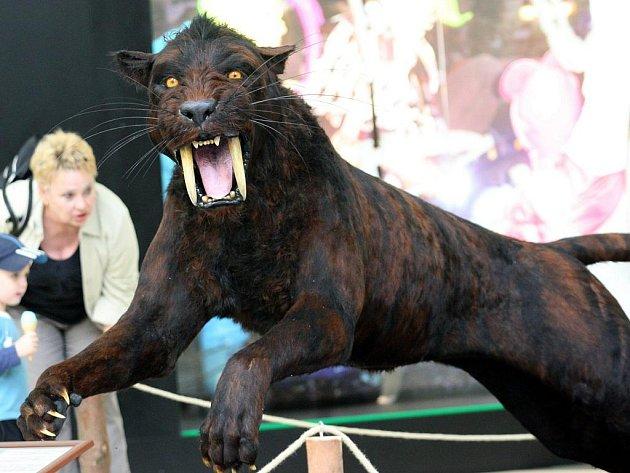 Návštěvníci výstavy mimo jiné uvidí i šavlozubého tygra.
