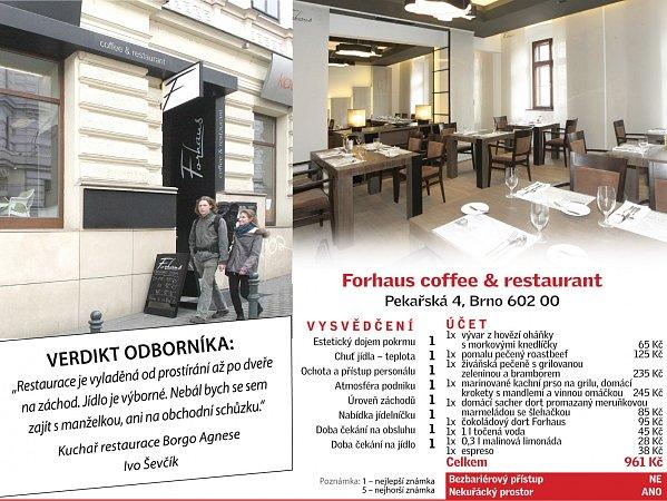 Od podlahy až do stropu je sladěná restaurace Forhaus. Totéž se dá říct ojejím jídelním lístku. Také proto se vní nebojí ukázat kuchyni