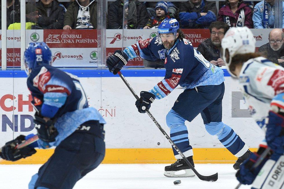 Brno 1.3.2020 - domácí HC Kometa Brno (bílá) proti Rytířům Kladno (JaromírJágr)