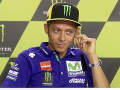 Tisková konference s jezdci Moto GP - Valentino Rossi.