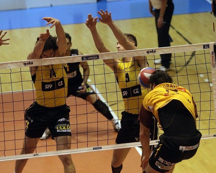 Brněnští volejbalisté v sobotním duelu proti Liberci slevili z předchozích kvalitních výkonů a prohráli 1:3 na sety.