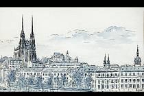 Historicky krásná a zajímavá místa zachycená v kresbách brněnského historika a výtvarníka Oldřicha Rejnuše.