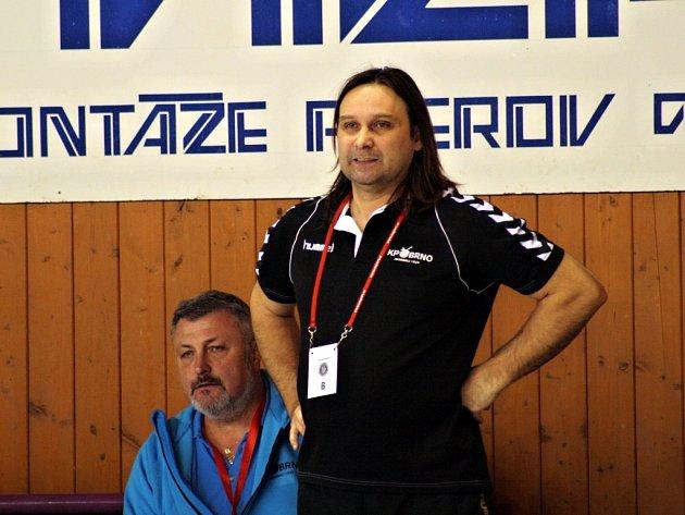 Trenér brněnských házenkářů Jan Hegar.
