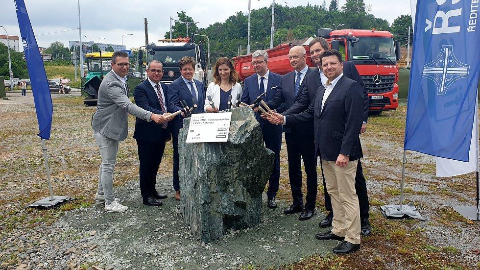 Slavnostní zahájení stavby Velký městský okruh Tomkovo náměstí a Rokytova, 23. června 2021.