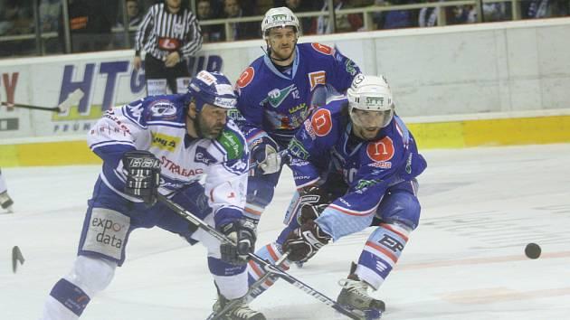 1. hokejová liga, 2. zápas semifinále: Kometa vs. Chomutov 4:2