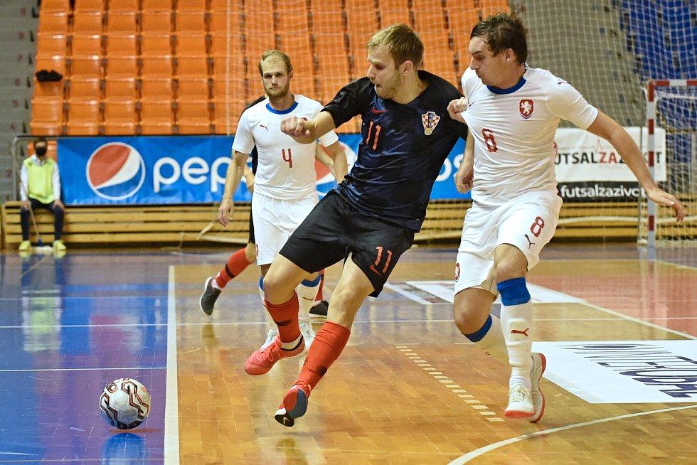 10.11.2020 - kvalifikae na mistrovství světa mezi Českou republikou v bílém (Matěj Slováček) a Chorvatskem (Josip Suton)
