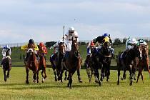 Víkendové dostihy na mosteckém hipodromu ovládl ve Velké letní ceně Dušan Andrés s koněm Tsaroxy.
