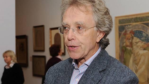 John Mucha, vnuk slavného malíře, navštívil Moravskou galerii v Brně.