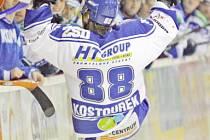 Radující se hráč brněnské Komety - Milan Kostourek