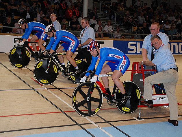 Šampionát dráhových cyklistů v Kodani.