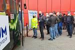Spuštění testování zaměstnanců brněnského dopravního podniku v pivní tramvaji.