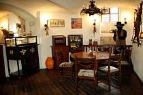 Interiér restaurace U starýho billa.