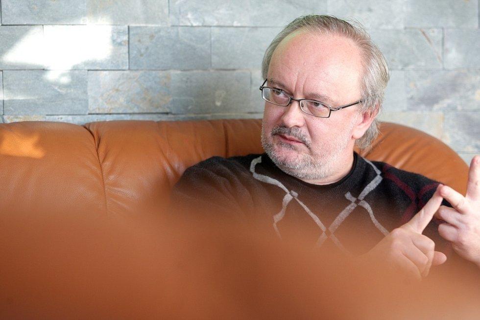 Ministr zahraničí Karel Schwarzenberg v Brně.